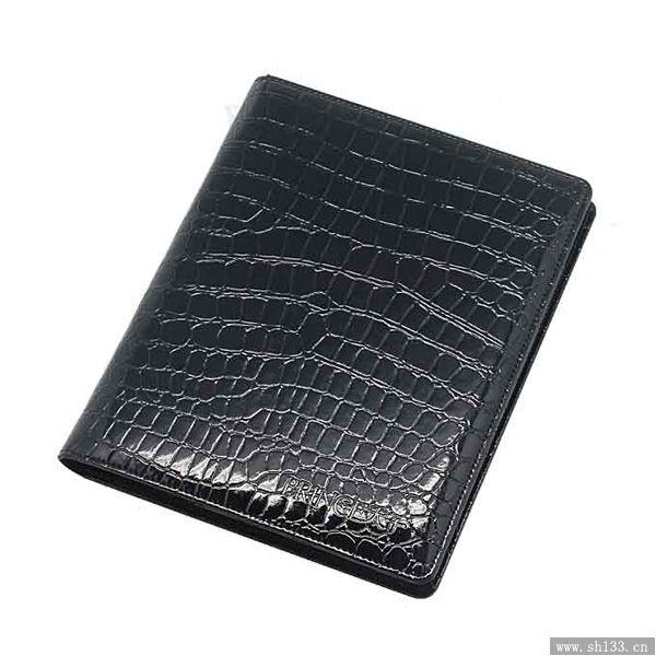 高档笔记本定制--黑色亮光皮商务笔记本