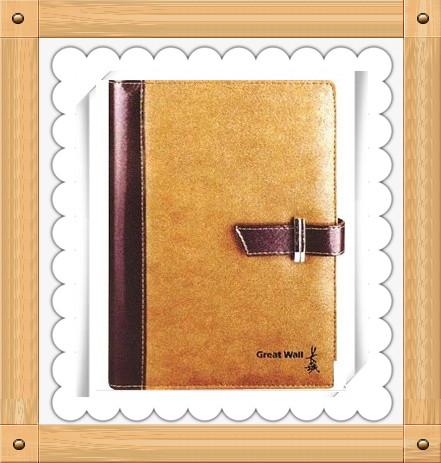 皮质平装笔记本定制-商务笔记本定制