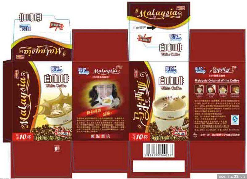 快速消费品白咖啡包装设计