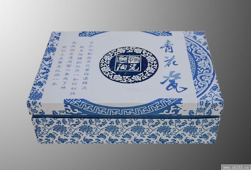 青花瓷样式包装盒设计