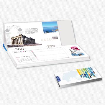 创意周历设计定做印刷 旅行风格周历制作