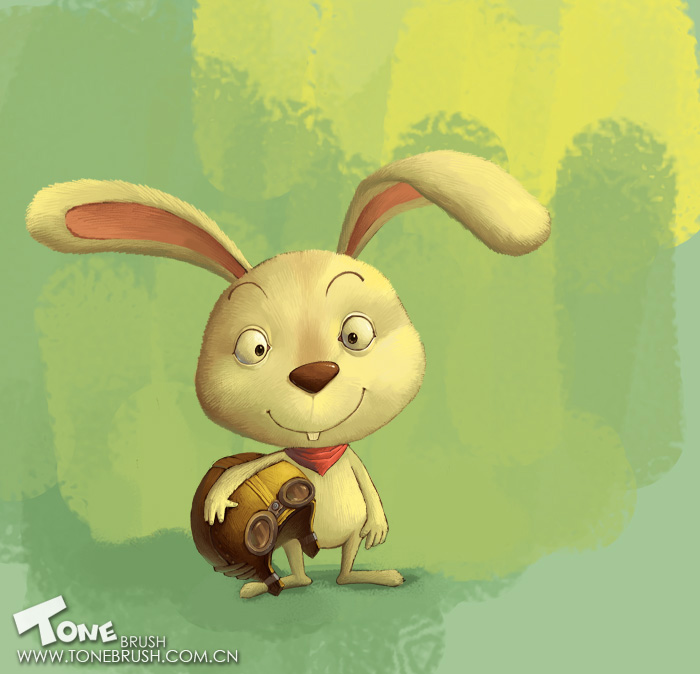 photoshop绘画教程:可爱长耳小白兔